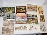 JOB LOT 17 ANTIQUE AND VINTAGE PHOTOGRAPHIC & ART POSTCARDS LIBERTY FRENCH