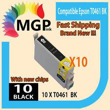 10x Black only ink cartridge T0461 for Epson Stylus C63 C65 CX3500 CX6500 C83