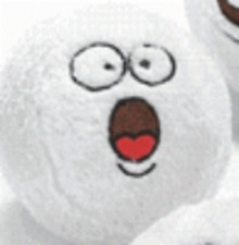 1 Plush Funny Face Snowball *Free Shipping Buy More Save More*