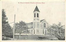 Vintage Postcard St. Mary's Catholic Church Jefferson Holden MA Worcester County