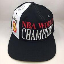 SIGNED Sam Cassell Starter 1994 Houston Rockets NBA World Champions Snapback Cap