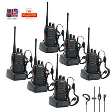6 pcs Walkie Talkies BaoFeng 888S 2 Way Radio UHF 400-470MHZ 16CH Long Range UK