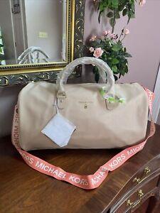 New Michael Kors Duffel Weekender Bag Pink Blush Large Gym Luggage Carry-on  B3H