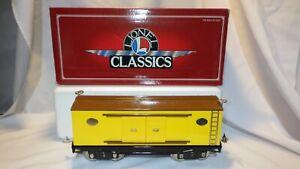 Lionel Classics Standard Gauge 200 Series Yellow Box Car Train 6-13605 in Box