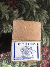 """NEW Blue-Point (Snap-on) 3/16"""" Steel Letter Stamps GA-238"""