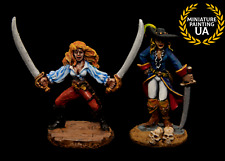 ⭐️Reaper 28mm Wargame Fantasy Figure Female Pirate of the Caribbean Hero Captian