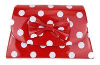 Rockabilly Tasche rot weiß Punkte Ella Jonte kleine Handtasche gepunktet Retro