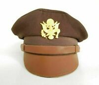 WW2 US Air Corps Officers Pilots Visor Crusher Hat Cap Hand Made 100% Replica