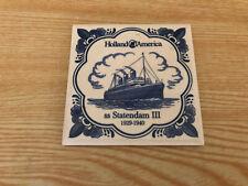 Holland America Coaster Tiles - SS Statendam III 1929-1940