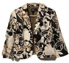 Worth Womens Size 4 Floral Print Waist Jacket
