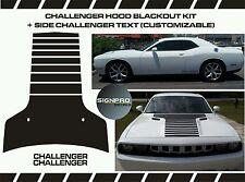 Dodge Challenger Hood Decal Stripes Side door decals 2008-14 Blackout Fader