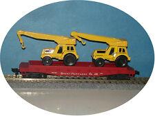 Mantua - Flat Car With 2 Maisto Jumbo Cranes - Ho Train - C-7 Excellent