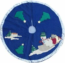 Christmas Tree Skirt Applique Decoration High Quality Luxury Linned Padded 72cm