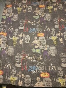 Vintage 1998 NWO WCW Blanket 78x90 Sting Goldberg Hogan *VERY RARE*AS IS*READ*