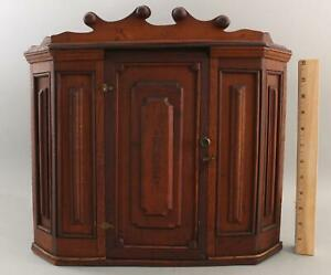 Antique Handmade, Walnut & Oak Corner Cupboard, PERFECTO Cigars, NR
