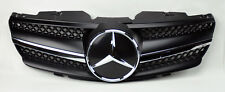 1 Fin Front Black w/ Chrome Hood Sport Grill for Mercedes SL Class R230 W230