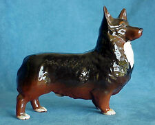 Vintage Beswick Black Prince 1299A Cardigan Welsh Corgi Party Color Dog Figure