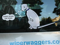 DOG LOVER'S CAR STICKER NOVELTY COLLECTABLE WITH WIPER WAGGING TAIL - WHIPPET