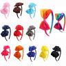 Girls Kids Hair Band Hoop Solid Bow Knot Headband Headwear Hairband Accessories