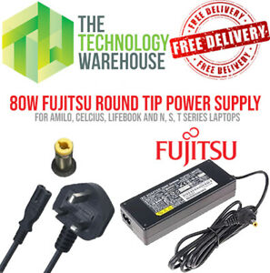 Genuine Fujitsu 80w Charger PSU - Round Tip 5.5mm*2.5mm - 19V 4.22A +Power Cable