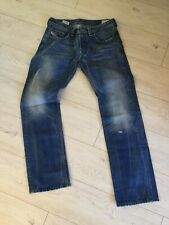 Diesel Larkee Mens Distressed / Ripped/ Stained Solid Jeans Size W32 L32 Mint!