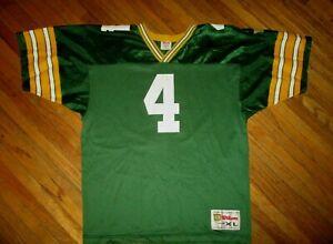 vtg 90s BRETT FAVRE GREEN BAY PACKERS 4 JERSEY Old School NFL Football YOUTH XL