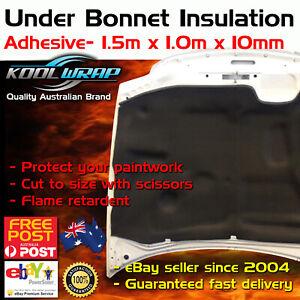 Under Hood Bonnet Insulation Adhesive 10mm Heat Resistant Foam 1.0m - 1.5m