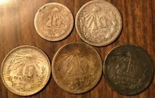 LOT OF 5 MEXICO SILVER 10 AND 20 CENTAVOS LOT OF 5 COINS!