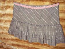 Xi - Pink & Gray Plaid Flounce Ruffle Mini Skirt size M
