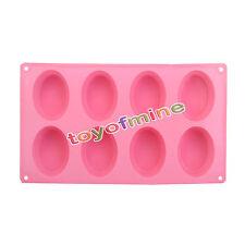 8 Hohlraum Oval form Backform Eiswürfelform Silikon Schokoladenform Seifenform