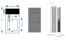 Unterputz Briefkasten  RAL 7016 Anthrazit mit  Gira Kamera und Gira Lautsprecher