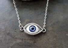 Handmade Silver Eyeball Necklace