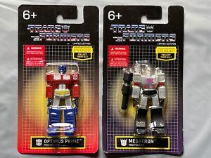 Transformers Mini figures Limited Edition, Optimus Prime & Megatron Sealed New