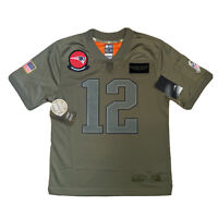 Nike New England Patriots Salute To Service Game Jersey 12 BRADY Youth Women M