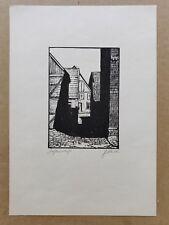 Linograbado o xilografía Original Edición Limitada De Impresión titulado, Firmado, Circa 1970s