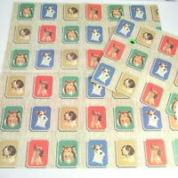 Vintage Flat Gift Wrap Wrapping Paper Norcross Dog Breeds Prize Winners 2 Sheets