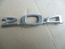 PEUGEOT 204 tous modèles : Monogramme,Insigne chromé capot Avant