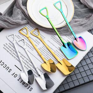 Stainless Steel Shovel Shape Coffee Sugar Spoon Dessert Funny Cutlery Teaspoon.0