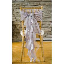 100 Silver Taffeta Curly Willow Wedding Chair Sash