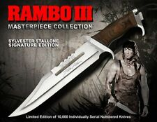 RB9297 - Couteau RAMBO III Sylvester Stallone Signature Licence Officielle