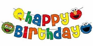 Sesame Street Happy Birthday Banner Party Decoration Supplies