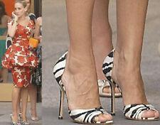 Ladies Manolo Blahnik Zebra  Print Shoes Size EUR 39 6UK