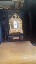 Bulova Miniature Brass Bird Cage Clock Limited Edition w/Display Box &...