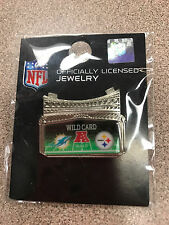 RARE Pittsburgh Steelers vs. Miami Dolphins Game Day Lapel Pin Wild Card 1/8/17
