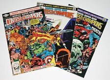 MARVEL SUPER HERO CONTEST OF CHAMPIONS #1, #2 and #3 (Complete set) 1982 - VF/NM