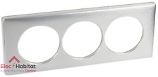Plaque triple anodisé Céliane aluminium entraxe 57mm Legrand 68929