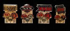San Francisco 49ers 4 Nfl Super Bowl Pins, Starline Collector - Vintage - Rare!