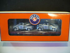 LIONEL UNION PACIFIC FLATCAR WITH 2 DIE CAST FORD PICKUP TRUCKS #17571