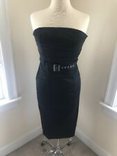 Karen Millen Black Strapless Dress- US8