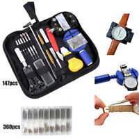 147PCS Watch Repair Tool Kit Watchmaker Case Opener Remover Pry Spring Pin Bars